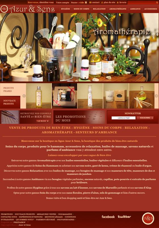 Boutique en ligne – Azur & Sens