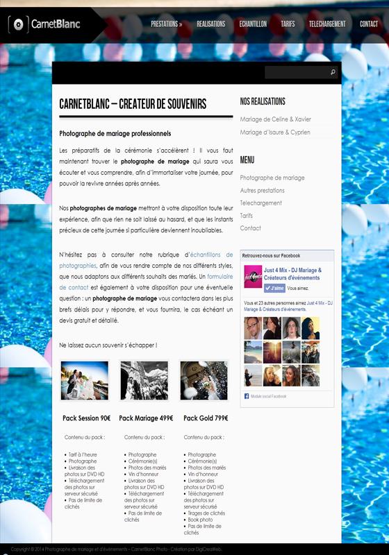 Photographe – Carnet Blanc